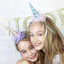 We Love Unicorns Clip on Birthday Party Hat - 13cm